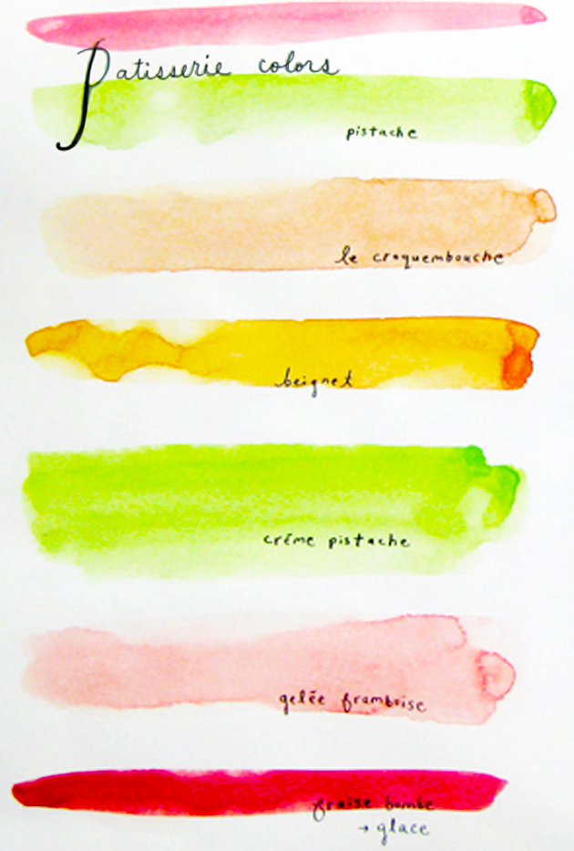 patisserie colors